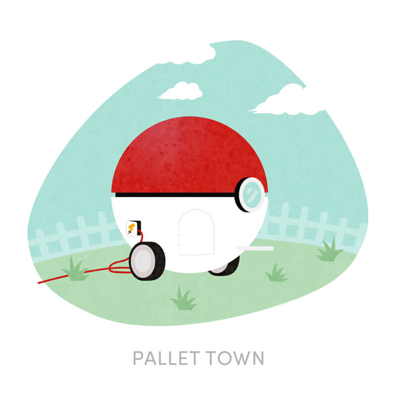 Pokemon - Pellet Town House Reimagined