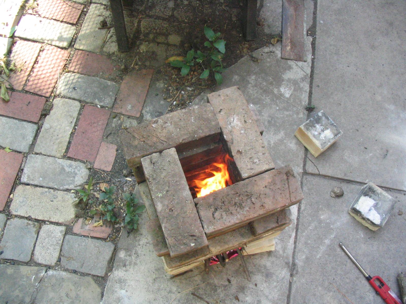 Brick Rocket Stove - DIY Alternative to a BBQ - Climadoor