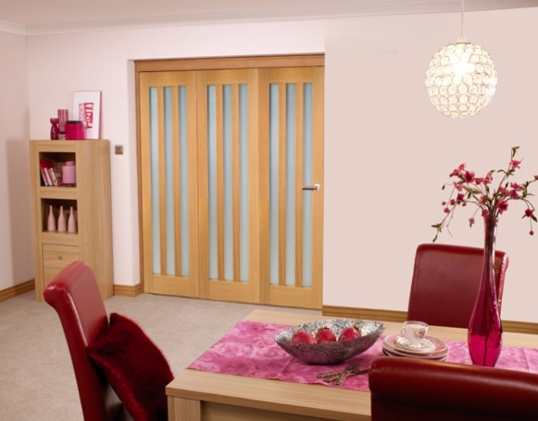 frosted glass internal bifold door