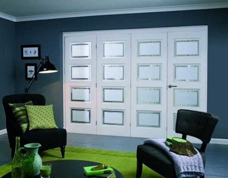 painted bifold door